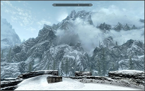 The sketch on the map clearly points that the treasure is nearby the fort, behind the lake - Treasure Maps (I) | Side quests - Side quests - The Elder Scrolls V: Skyrim Game Guide