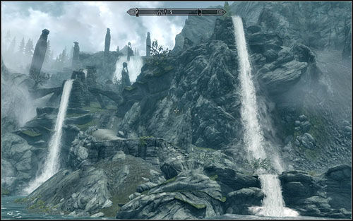 The map from Angis Cabin points to Lost Valley Redoubt found south of Rorikstead - Treasure Maps (IV-V) | Side quests - Side quests - The Elder Scrolls V: Skyrim Game Guide