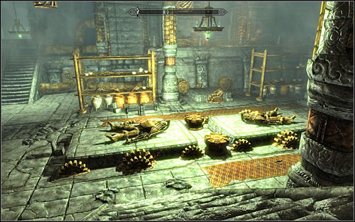 Head out of the room and turn right, where you will come across a Dwemer storage room - Unfathomable Depths | Side quests - Side quests - The Elder Scrolls V: Skyrim Game Guide
