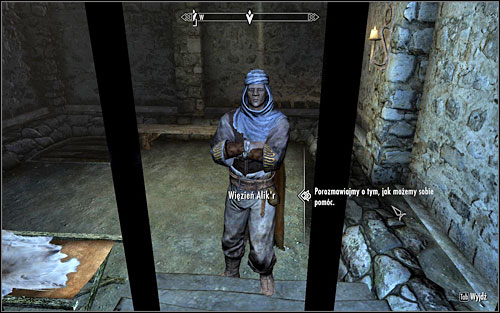 After completing the formalities, return to the prisoner - In my Time of Need | Side quests - Side quests - The Elder Scrolls V: Skyrim Game Guide