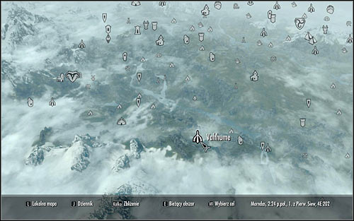 Open the world map and head to the ruins of Valthume, located in the western part of Skyrim (screen above) - Evil In Waiting | Side quests - Side quests - The Elder Scrolls V: Skyrim Game Guide