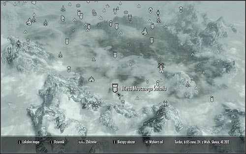 Open the world map and head to the Darklight Tower found in the south-east part of Skyrim (screen above) - Repentance | Side quests - Side quests - The Elder Scrolls V: Skyrim Game Guide
