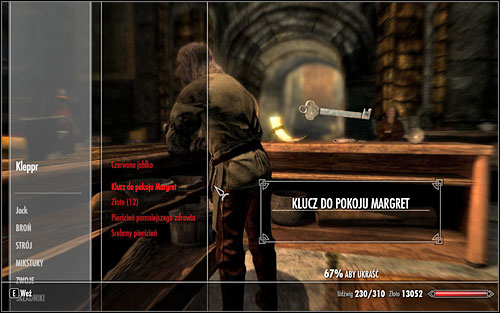 If none of the attempts succeeds, you can always open the door to Margret's room by using a picklock and avoiding any problems connected with obtaining the key - The Forsworn Conspiracy - Side quests - The Elder Scrolls V: Skyrim - Game Guide and Walkthrough