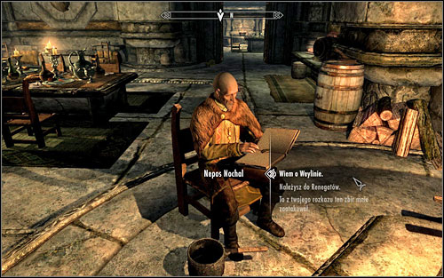Without much delicacy, Nepos will reveal he's a Forsworn agent following the order of their King - The Forsworn Conspiracy - Side quests - The Elder Scrolls V: Skyrim - Game Guide and Walkthrough