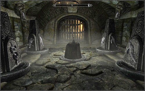 The proper pillar arrangement can be seen in the screenshot above - Under Saarthal - p. 3 | Side quests - Side quests - The Elder Scrolls V: Skyrim Game Guide