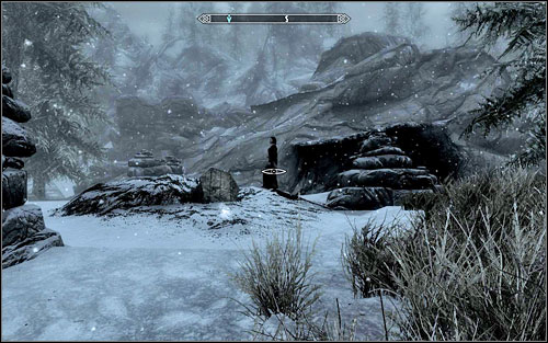 After getting there, you will see a dark woman standing above a small, childish coffin - Laid to Rest | Side quests - Side quests - The Elder Scrolls V: Skyrim Game Guide