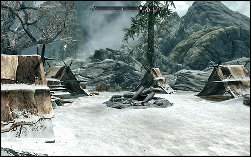 Search the tents to find Daynas Valens Journal in one of them - in accordance with the notes, the man is a researcher willing to investigate the history of Gauldur - Forbidden Legend - p. 1 | Side quests - Side quests - The Elder Scrolls V: Skyrim Game Guide