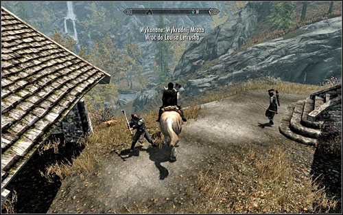 After stealing the horse and running away from the scene, you are left with two options - Promises to Keep - Side quests - The Elder Scrolls V: Skyrim - Game Guide and Walkthrough