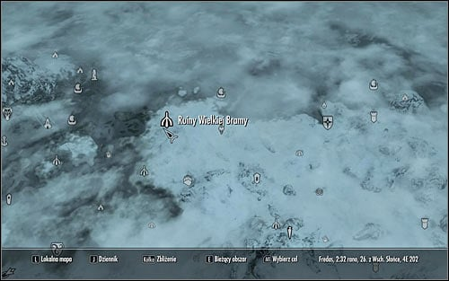 Open the world map and head to the High Gate Ruins in the northern part of Skyrim (screen above) - A Scroll For Anska | Side quests - Side quests - The Elder Scrolls V: Skyrim Game Guide