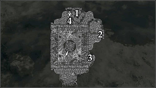 Markings on the map: 1 - Hawk lever; 2 - Fish lever; 3 - Wolf lever; 4 - Snake lever. - A Scroll For Anska | Side quests - Side quests - The Elder Scrolls V: Skyrim Game Guide
