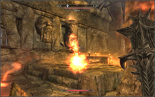Head east and fight Vokun, the Dragon Priest, after reaching the bigger room (screen above) - A Scroll For Anska | Side quests - Side quests - The Elder Scrolls V: Skyrim Game Guide
