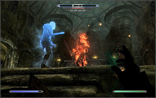 In the end you will have to fight the main boss of this quest - King Olaf One-Eye (screen above) - Tending the Flames - p. 2 | The Bards College quests - The Bards College quests - The Elder Scrolls V: Skyrim Game Guide
