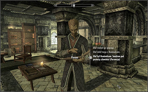 As you speak with Viarmo, it will turn out that the verse isnt complete and your hero will automatically suggest using a trick, or rather falsifying it - Tending the Flames - p. 2 | The Bards College quests - The Bards College quests - The Elder Scrolls V: Skyrim Game Guide