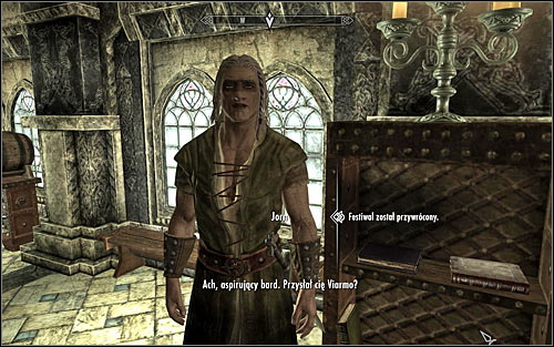 Speak to Viarmo and he will send you to Jorn, so that he starts preparation for the feast - Tending the Flames - p. 2 | The Bards College quests - The Bards College quests - The Elder Scrolls V: Skyrim Game Guide