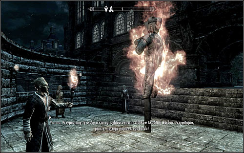 Head out of The Bards College and turn right, going north-east - Tending the Flames - p. 2 | The Bards College quests - The Bards College quests - The Elder Scrolls V: Skyrim Game Guide
