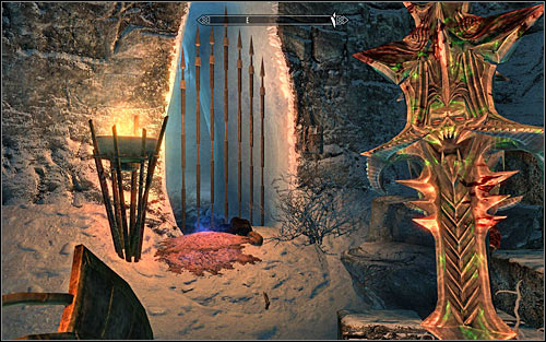 Eventually you should reach a bigger room in the north-east part of the cave - Miscellaneous: Find Panteas Flute | The Bards College quests - The Bards College quests - The Elder Scrolls V: Skyrim Game Guide