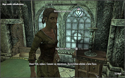 Head to The Bards College in Solitude and find Inge Six-Fingers (screen above) - Miscellaneous: Find Finns Lute | The Bards College quests - The Bards College quests - The Elder Scrolls V: Skyrim Game Guide