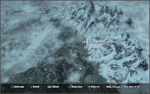 Head out of the college, open the world map and plan your journey to Stony Creek Cave (screen above) - Miscellaneous: Find Finns Lute | The Bards College quests - The Bards College quests - The Elder Scrolls V: Skyrim Game Guide