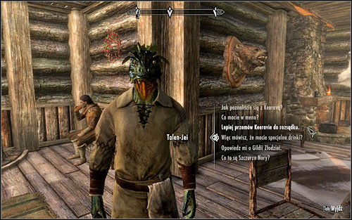 During the conversation with the lizard, suggest him that opposing the Guild isnt a good idea - Taking Care of Business - Thieves Guild quests - The Elder Scrolls V: Skyrim Game Guide