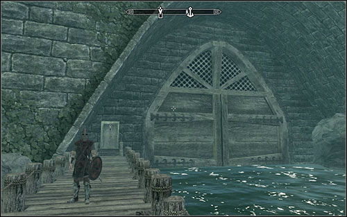 Keep following your target after entering the warehouse - Scoundrels Folly - Thieves Guild quests - The Elder Scrolls V: Skyrim Game Guide