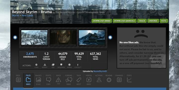 Head to the modifications page and download it via NMM. - How to install Beyond Skyrim: Bruma? - General information - The Elder Scrolls V: Skyrim Game Guide