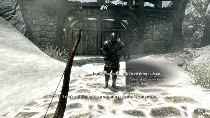 Speak with a guard and you will be moved to the new location. - Starting your adventure in Beyond Skyrim: Bruma - General information - The Elder Scrolls V: Skyrim Game Guide