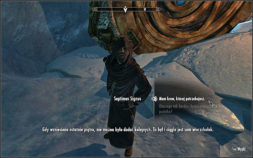You can return to Septimus only after obtaining all five samples - Discerning the Transmundane - p. 3 - Daedric quests - The Elder Scrolls V: Skyrim Game Guide