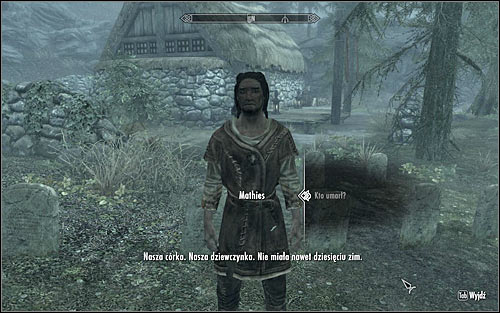 After the ceremony, approach Mathies and speak with him about the deceased (screen above) - Ill Met By Moonlight - p. 1 - Daedric quests - The Elder Scrolls V: Skyrim Game Guide