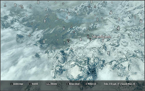 Open the world map, thanks to which you will establish that the beast pointed by Sinding can be found in the woods east of Falkreath (screen above) - Ill Met By Moonlight - p. 1 - Daedric quests - The Elder Scrolls V: Skyrim Game Guide