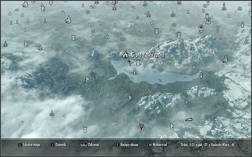 Open the world map and find the destination, i - Ill Met By Moonlight - p. 2 - Daedric quests - The Elder Scrolls V: Skyrim Game Guide