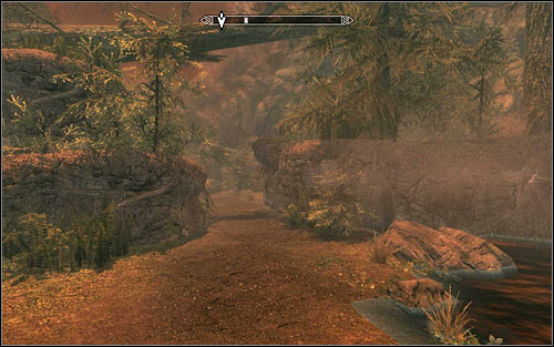 After the conversation, choose the path leading north (screen above) - Ill Met By Moonlight - p. 2 - Daedric quests - The Elder Scrolls V: Skyrim Game Guide