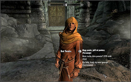 Approach Verulus and speak to him to learn that the Hall of the Dead is temporarily off-limits - The Taste of Death - p. 1 - Daedric quests - The Elder Scrolls V: Skyrim Game Guide