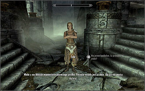 The mentioned character will soon reveal itself, regardless of whether you decide to take a look around the Hall of the Dead or stay at one place - The Taste of Death - p. 1 - Daedric quests - The Elder Scrolls V: Skyrim Game Guide