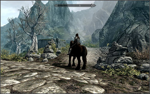 Its best to approach the cave from the north-east side, as there you will find a path leading into the mountains (screen above) - The Taste of Death - p. 1 - Daedric quests - The Elder Scrolls V: Skyrim Game Guide
