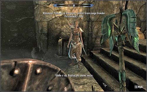 If Eola has been accompanying you in your journey through the caves (screen above), the conversation will be initiated automatically - The Taste of Death - p. 2 - Daedric quests - The Elder Scrolls V: Skyrim Game Guide