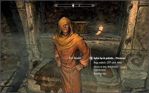 Speak to Verulus and confirm that youre willing to add him to your team - The Taste of Death - p. 2 - Daedric quests - The Elder Scrolls V: Skyrim Game Guide
