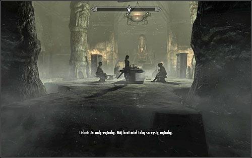 After reaching the destination, enter the temple and head to the room in which you fought the Overlord, where the feast is now being prepared (screen above) - The Taste of Death - p. 2 - Daedric quests - The Elder Scrolls V: Skyrim Game Guide