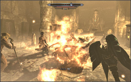 Dont wait for Verulus to approach the ritual table and quickly attack Eola and the other cannibals (screen above) - The Taste of Death - p. 2 - Daedric quests - The Elder Scrolls V: Skyrim Game Guide