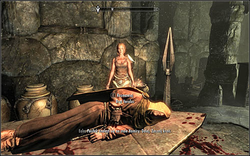 Wait for the conversation to end and follow Eola, reaching a table on which the monk should automatically lay (screen above) - The Taste of Death - p. 2 - Daedric quests - The Elder Scrolls V: Skyrim Game Guide