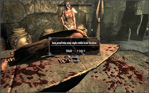 Stay where you are and interact with Verulus corpse, confirming the will to taste his flesh (screen above) - The Taste of Death - p. 2 - Daedric quests - The Elder Scrolls V: Skyrim Game Guide