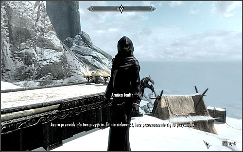 After reaching the destination, approach the large Azura statue and use the stairs - The Black Star - p. 1 - Daedric quests - The Elder Scrolls V: Skyrim Game Guide