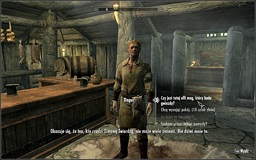 Inside, you should witness a conversation between Nelacar and the innkeeper Dagur, regarding the appearance of a monster in result of a failed experiment conducted by the elf - The Black Star - p. 1 - Daedric quests - The Elder Scrolls V: Skyrim Game Guide