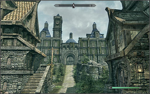 Head south-east and soon your should reach the Blue Palace entrance (screen above) - The Mind of Madness - p. 1 - Daedric quests - The Elder Scrolls V: Skyrim Game Guide