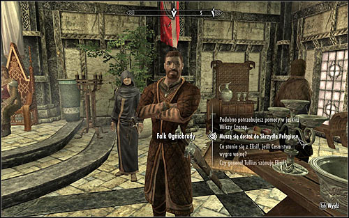 Falk Firebeard (screen above) wont be willing to give you the Pelagius Wing Key and the only way of making him change his mind is completing The Man Who Cried Wolf side quest which he can give you - The Mind of Madness - p. 1 - Daedric quests - The Elder Scrolls V: Skyrim Game Guide