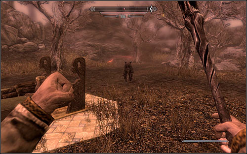 Hitting Pelagius with a magic projectile should cause a wolf (screen above) to appear - The Mind of Madness - p. 2 - Daedric quests - The Elder Scrolls V: Skyrim Game Guide