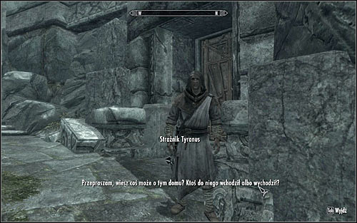 Approach Tyranus and speak to him (screen above) so that he asks you of the abandoned house - The House of Horrors - Daedric quests - The Elder Scrolls V: Skyrim - Game Guide and Walkthrough