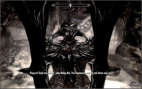 You will now speak with Molag Balem, the Daedric Lord of Corruption (screen above) - The House of Horrors - Daedric quests - The Elder Scrolls V: Skyrim - Game Guide and Walkthrough