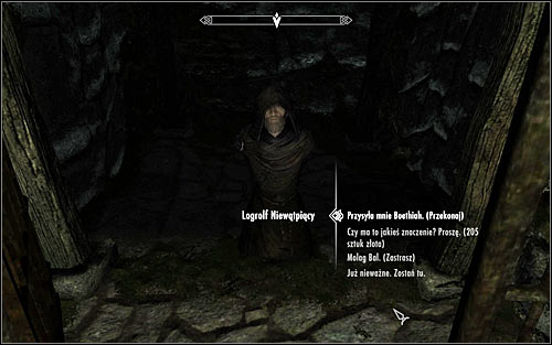 Approach Logrolf the Willful and speak to him - The House of Horrors - Daedric quests - The Elder Scrolls V: Skyrim Game Guide