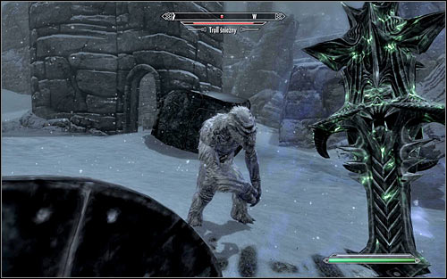 An example of a location occupied by Trolls is for example the Labyrinthian found in the northern Skyrim mountains (screen above) which you visit during the College of Winterhold quest Staff of Magnus - The Cursed Tribe - p. 1 - Daedric quests - The Elder Scrolls V: Skyrim Game Guide