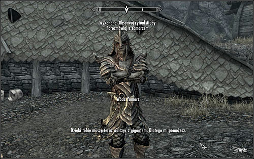 Approach Chief Yamarz and speak with him (screen above) - The Cursed Tribe - p. 2 - Daedric quests - The Elder Scrolls V: Skyrim Game Guide